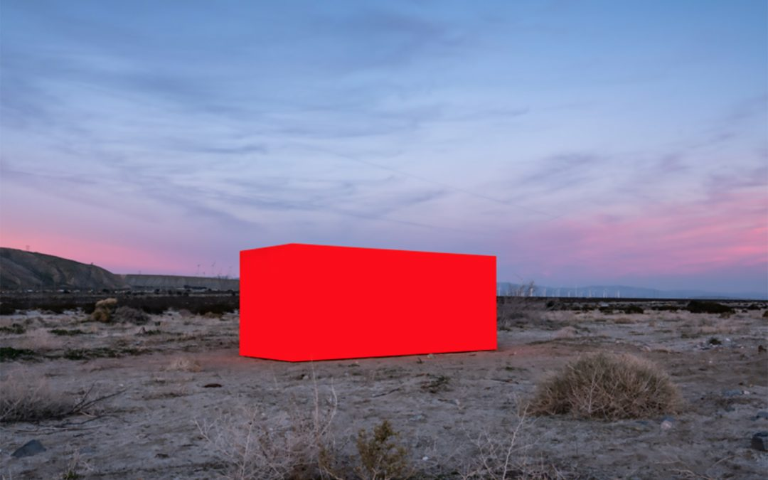 Sterling Ruby Embeds Neon Orange Monolith into Coachella Valley's Desert Landscape